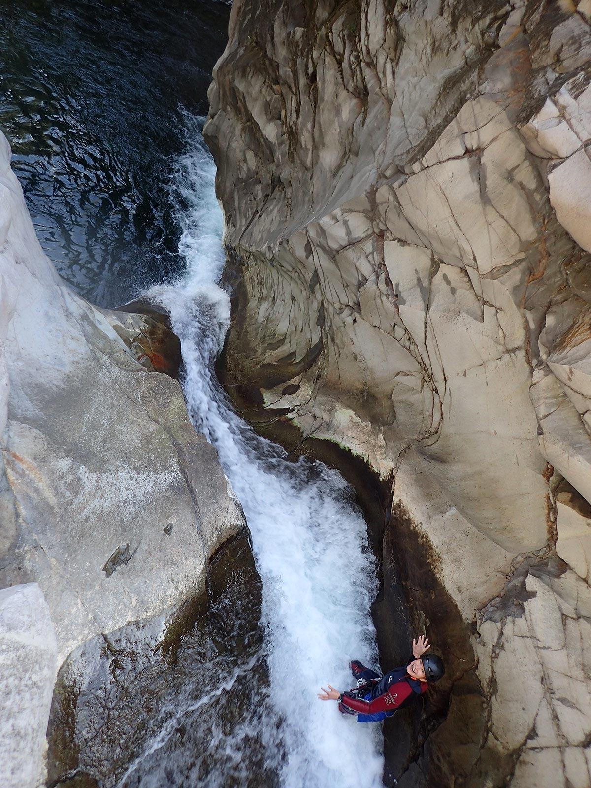 le canyon en grande ampleur. ici à la Réunion