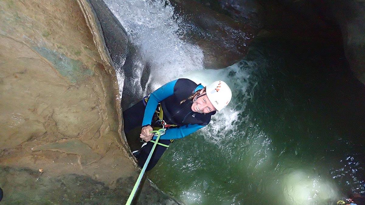 rappel dans le canyon de l'Alloix chartreuse