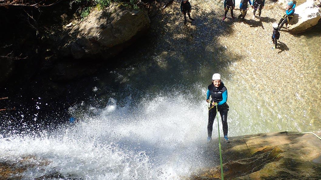 canyoning dans le vercores proche de Lyon et Grenoble