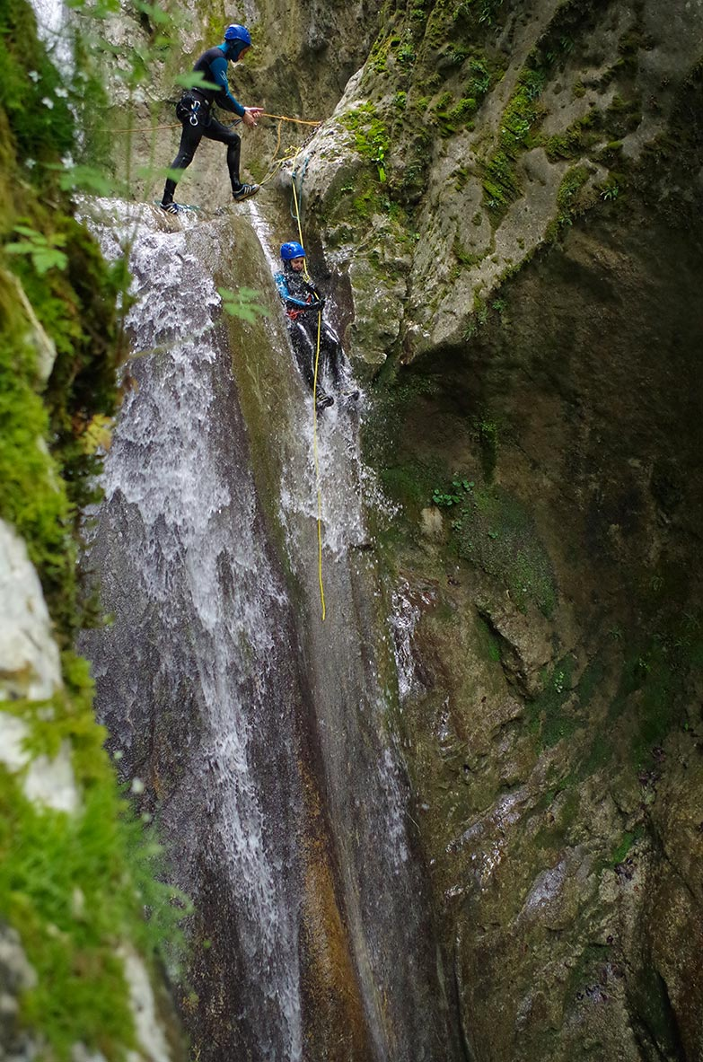 Canyoning proche de Lyon, canyon du Versoud