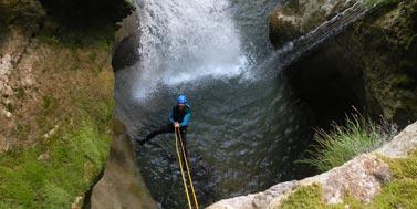 Cascade de l'Alloix, Canyoning en Chartreuse