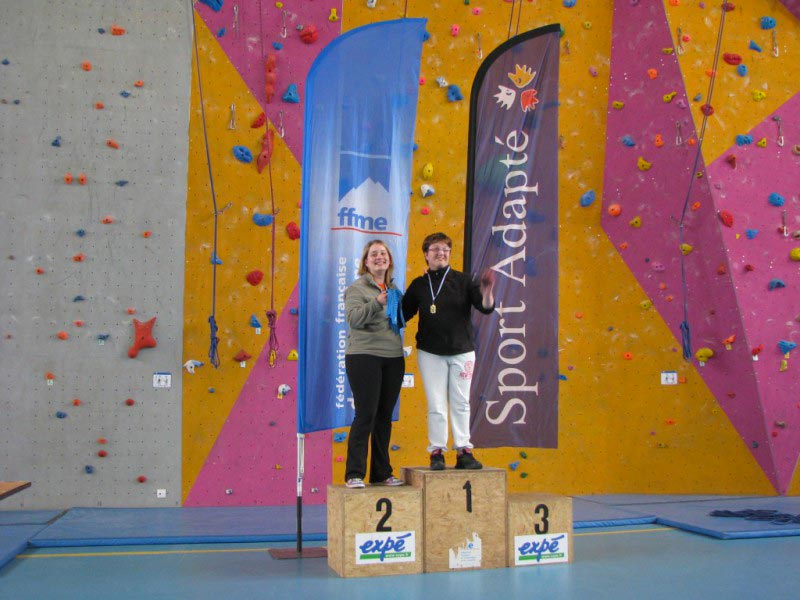 podium handi escalade Grenoble