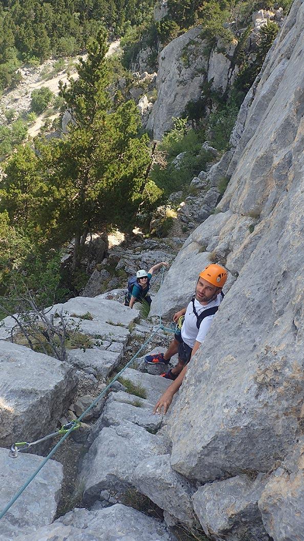 Escalade en via corda à Grenoble
