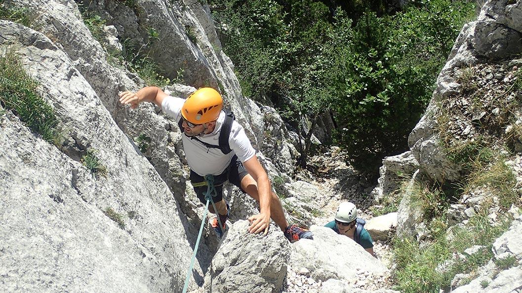 Via corda 3 Pucelles dans le Vercors à Grenoble
