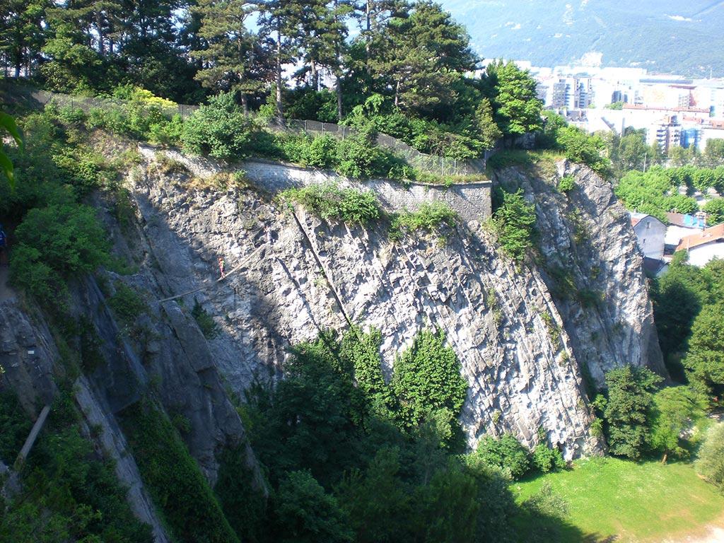 Via ferrata en Chartreuse, ici la Bastille près de Grenoble