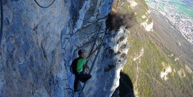 Via Ferrata à Grenoble : cascade de l'oule