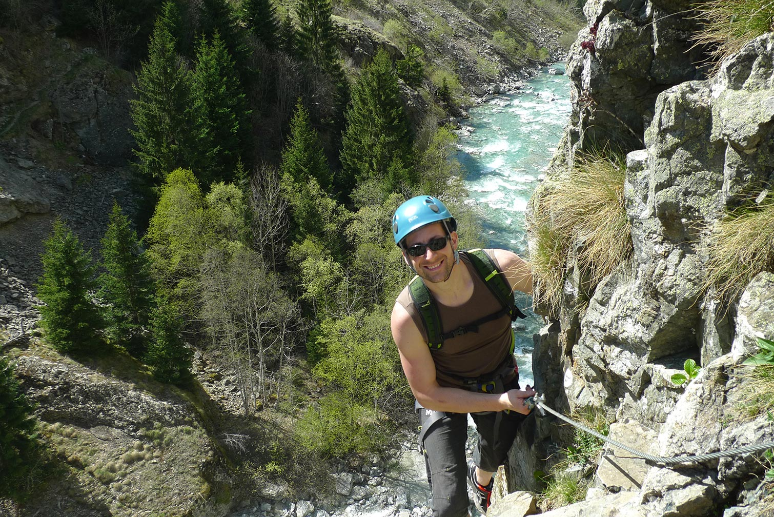 Via ferrata de St Christope en Oisans