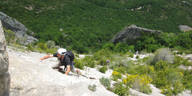 Initiation au grande voie d'escalade à Grenoble