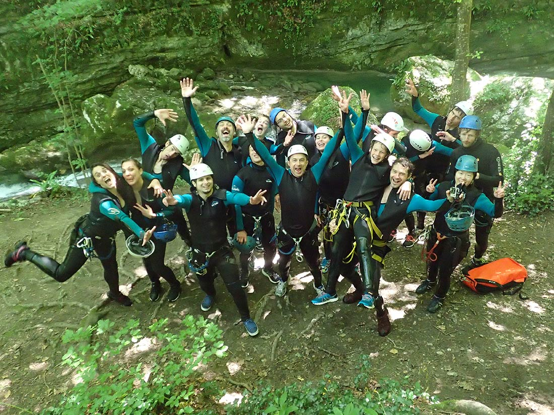 sortie canyon CE - canyoning du Furon Grenoble