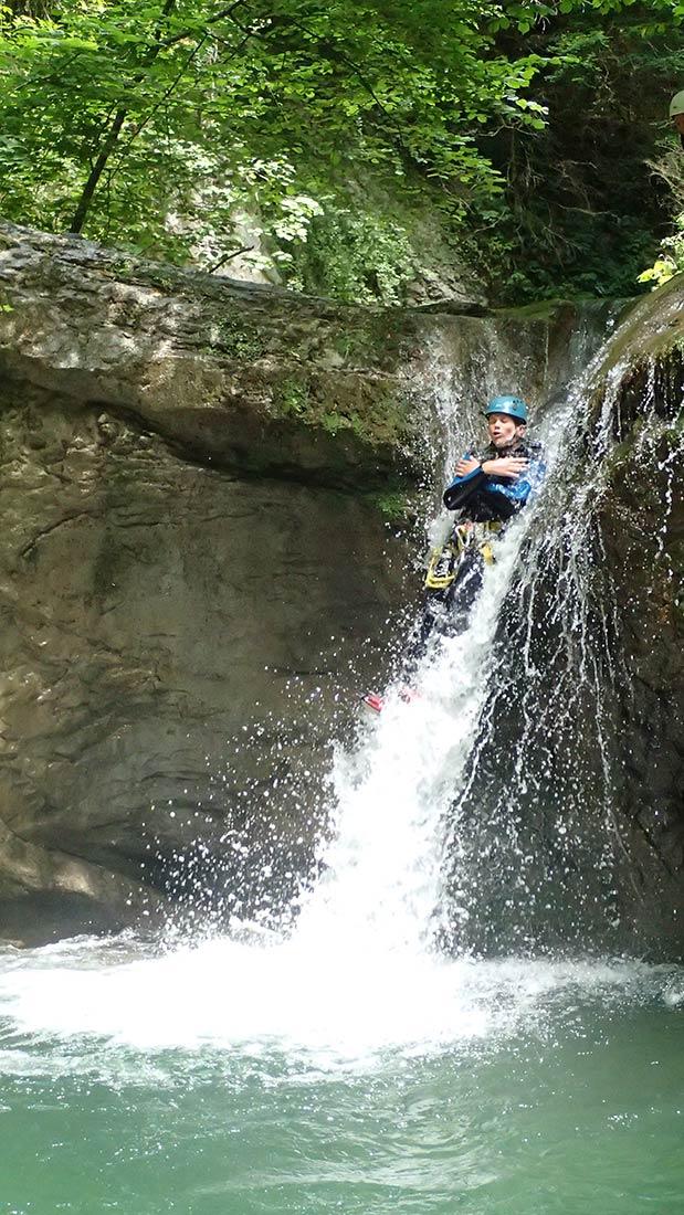 toboggan dans le canyon des Ecouges - canyon du vercors