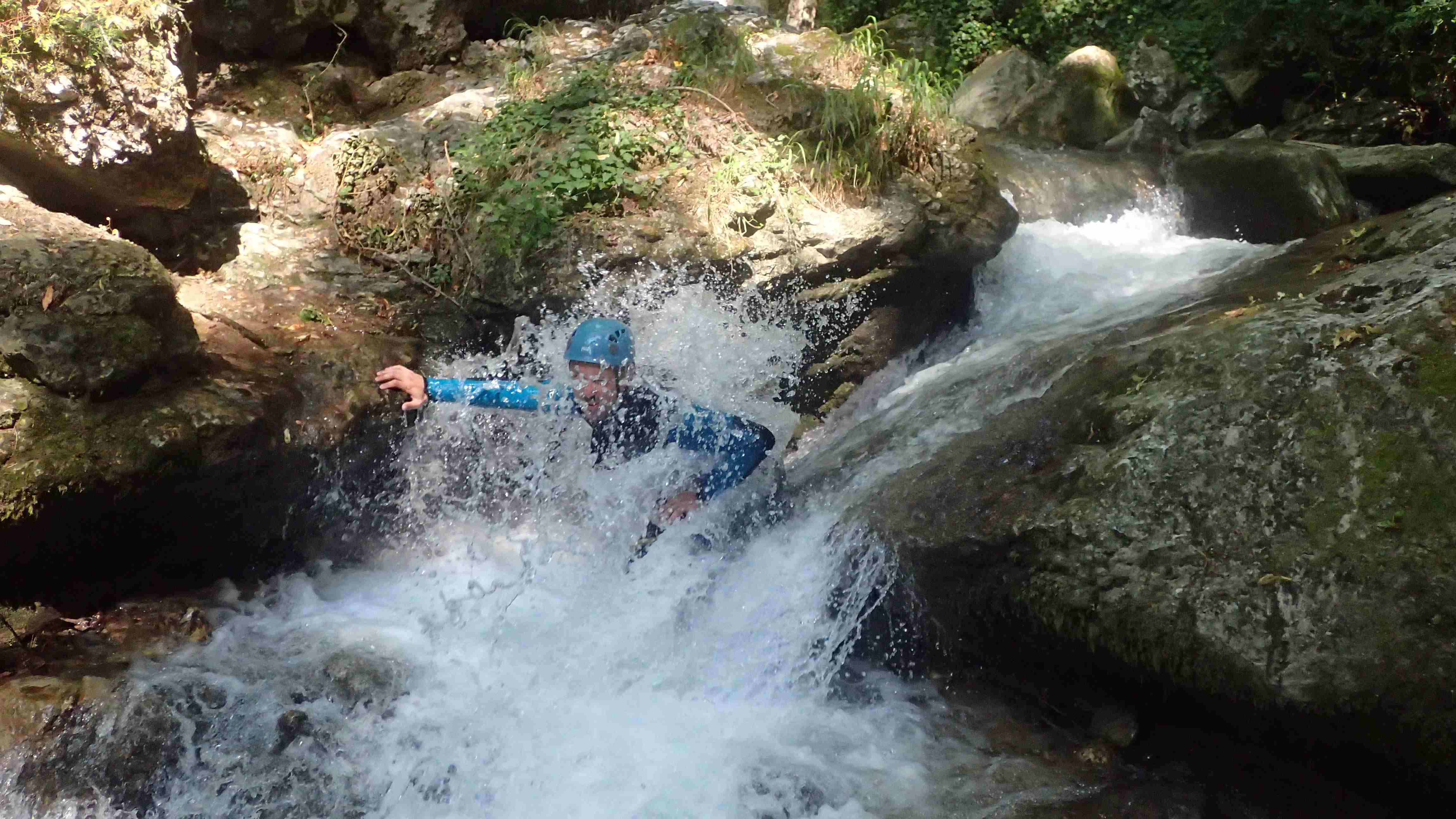 douche en canyoning Vercors