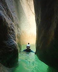 l'encaissement dans le canyon de l'Infernet en Chartreuse