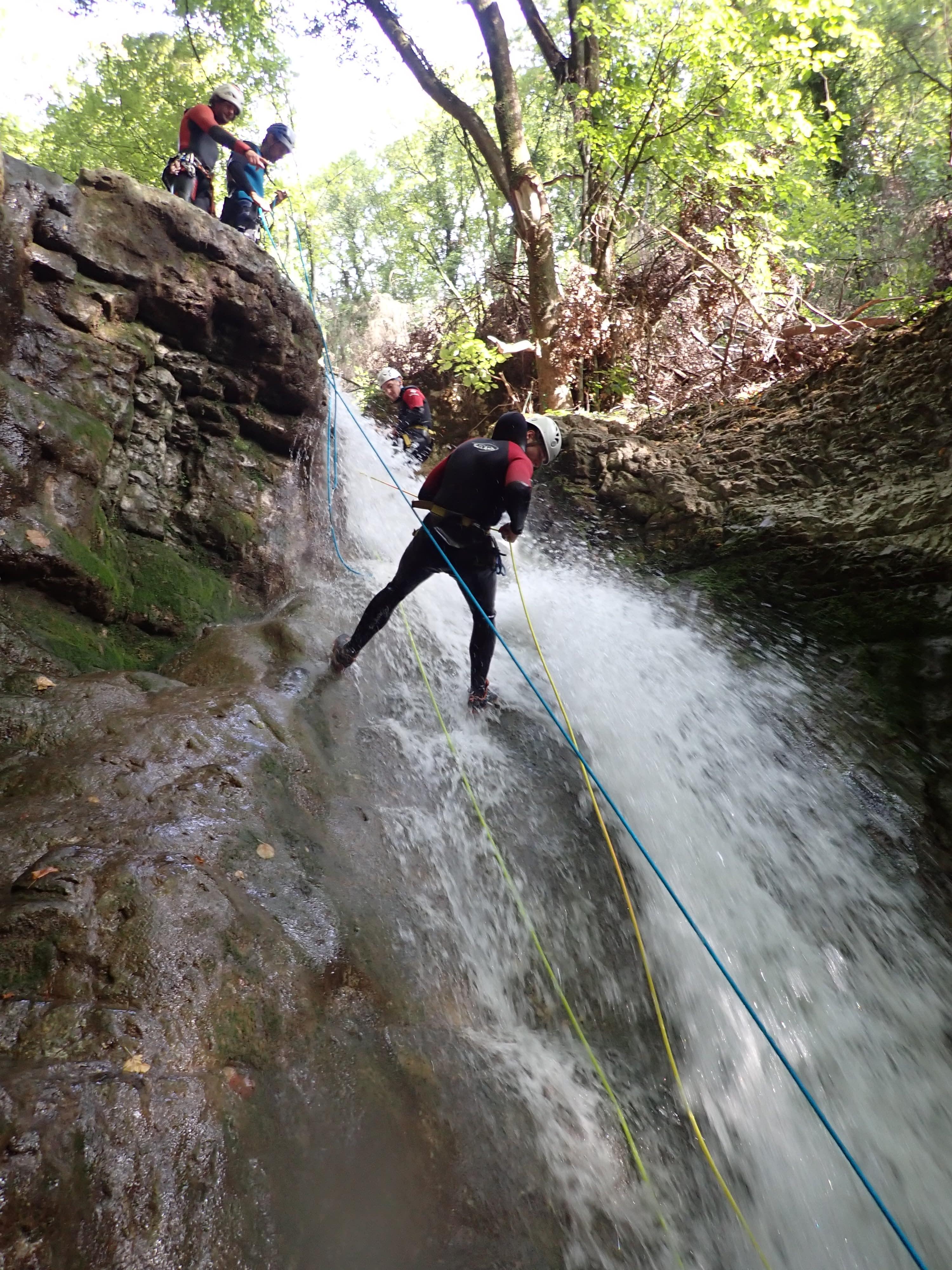 canyon du Furon bas : première descente en rappel