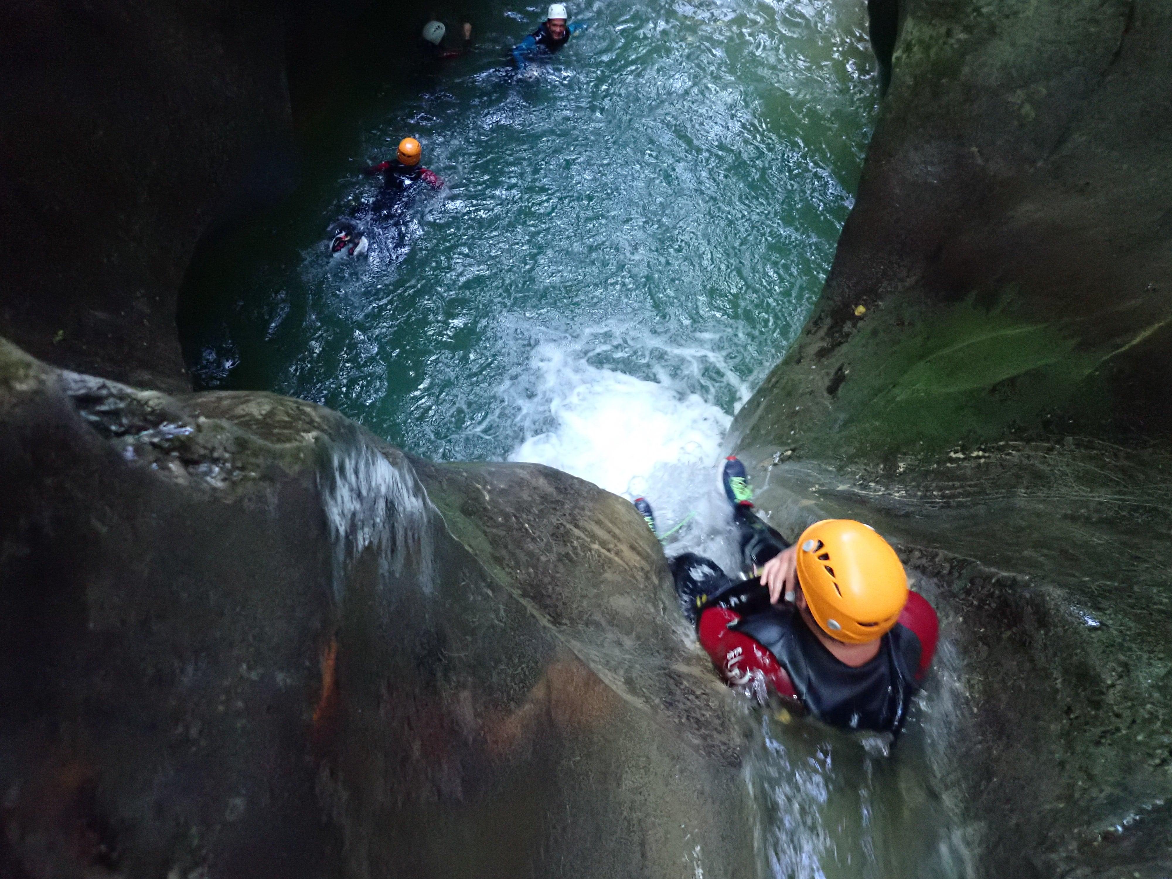 toboggan final du canyon du Furon à Grenoble