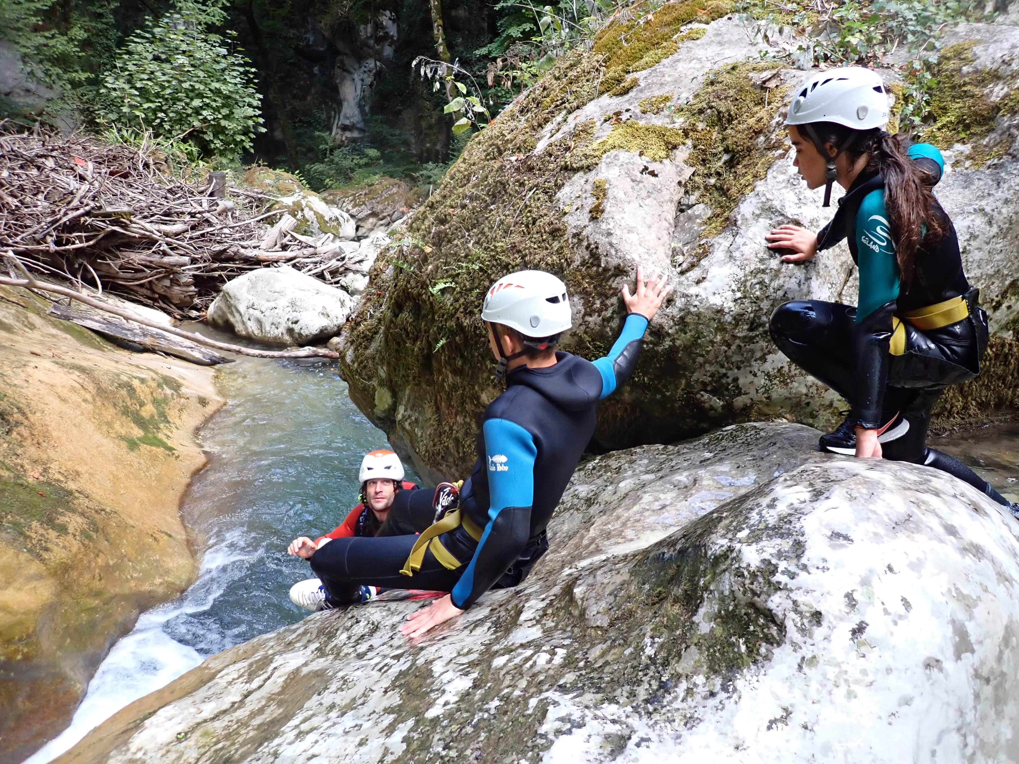 toboggan dans le canyon du Furon Vercors
